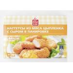 Наггетсы FINE LIFE из мяса цыпленка с сыром в панировке, 300 г