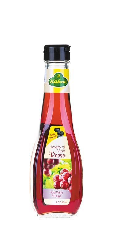 Уксус KUHNE 6% красное вино, 250мл