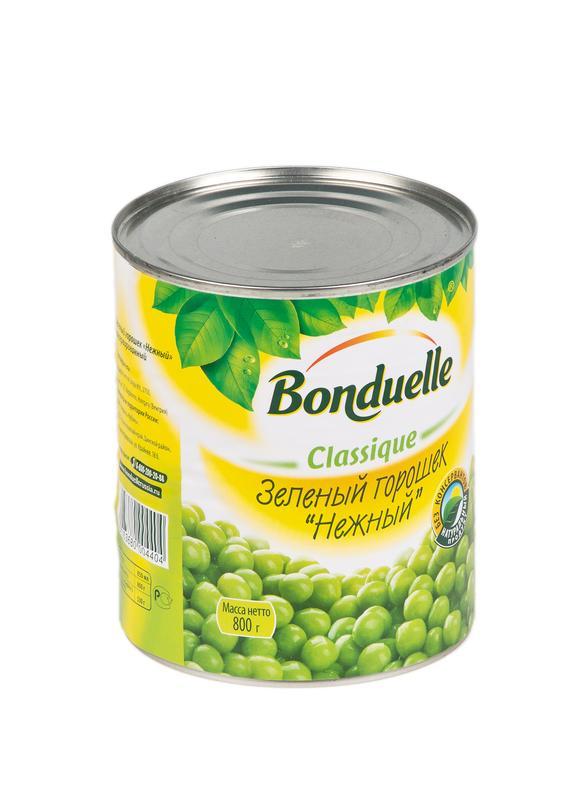 Зеленый горошек BONDUELLE Нежный ж/б, 800г