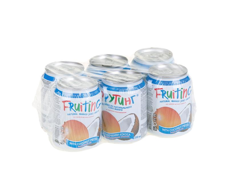 Сокосодержащий напиток FRUITING Манго с кусочками кокоса, 0,238 мл
