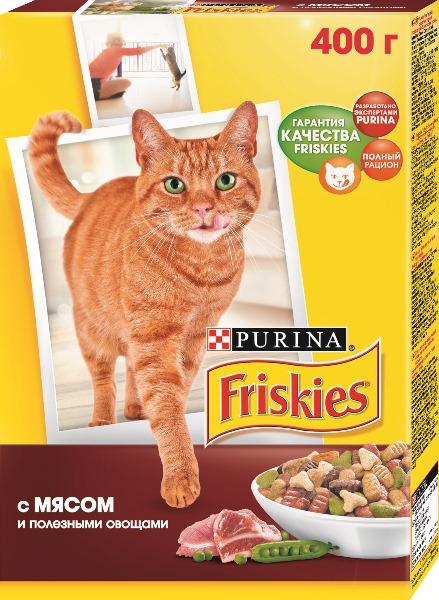 Корм для кошек FRISKIES с мясом, 400г