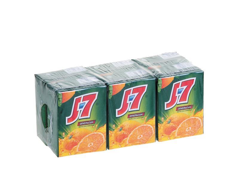 Сок J7 апельсиновый, 0,2 л
