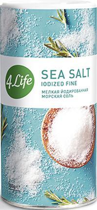 Морская соль 4LIFE мелкая йодированная, 500г