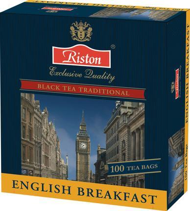 Чай RISTON English Breakfast Черный Пакетированный, 100х2г