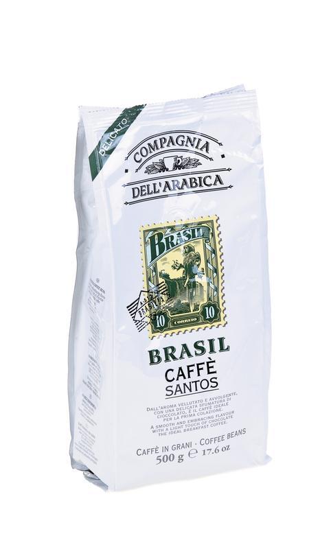 Кофе зерновой DELL arabica brasil, 500г