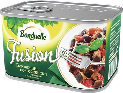 Баклажаны BONDUELLE FUSION по-тоскански с томатами и базиликом, 375г