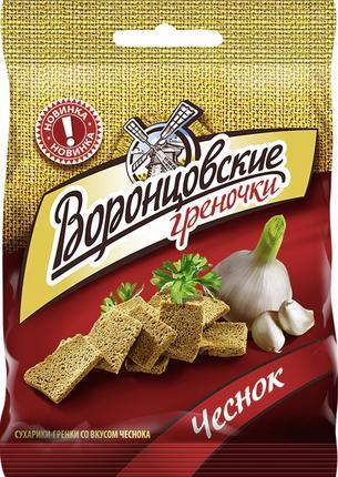 Греночки ВОРОНЦОВСКИЕ с чесноком, 60 г