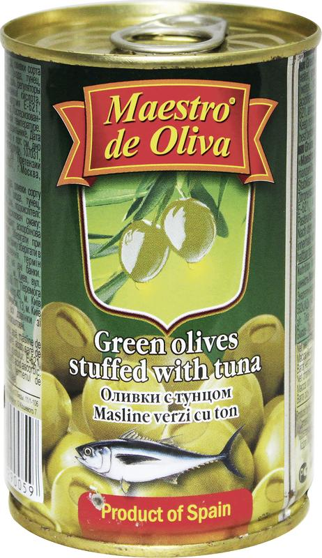 Оливки с тунцом MAESTRO DE OLIVA, 300г