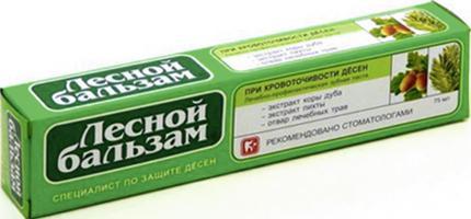 Зубная паста ЛЕСНОЙ БАЛЬЗАМ кора дуба/пихта, 75мл