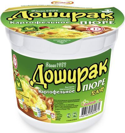 Пюре картофельное ДОШИРАК с курицей, 40г