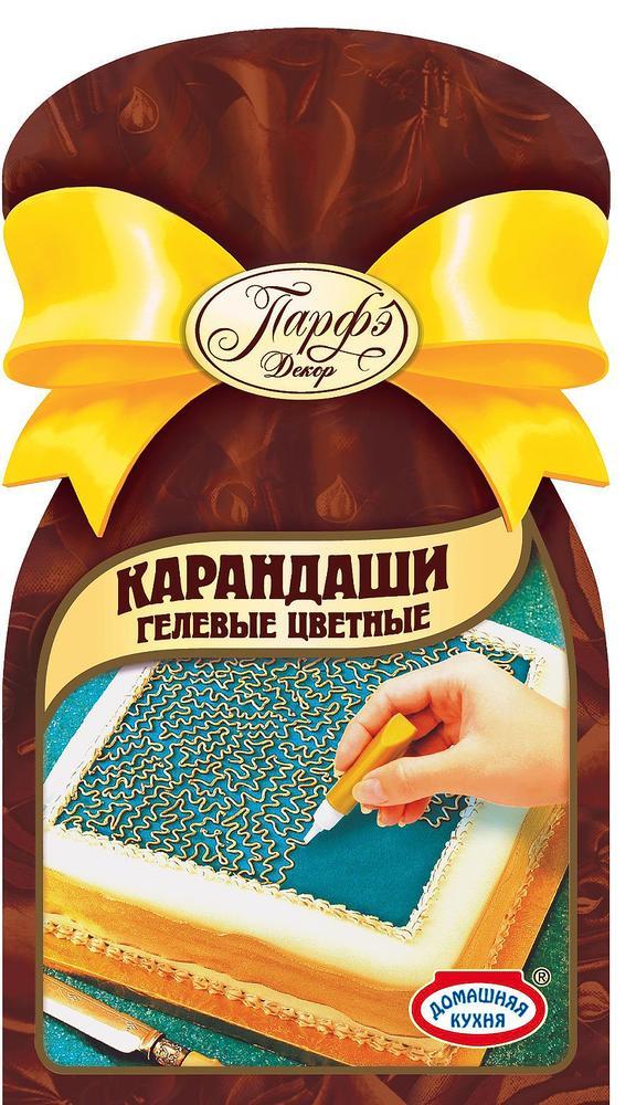 Карандаши гелевые цветные ПАРФЭ, 64г
