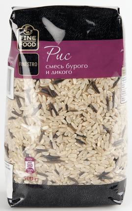 Смесь риса бурого и дикого FINE FOOD FINESTRO, 500г