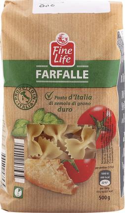Паста FINE LIFE Фарфалле, 500г