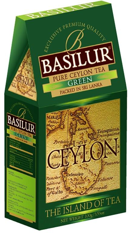 Чай зеленый BASILUR Ceylon листовой, 100г