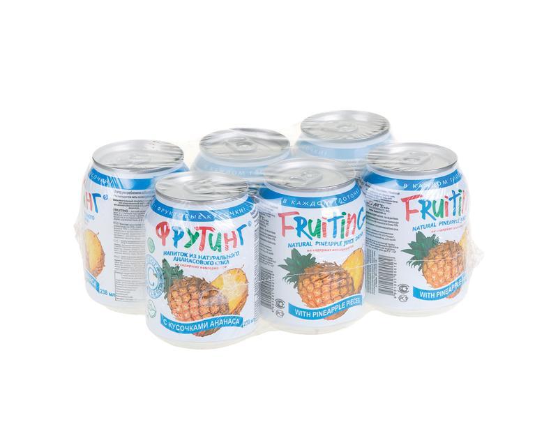 Напиток FRUITING на основе ананасового сока с кусочками ананаса, 0,238 л
