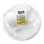 Набор одноразовой пластиковой посуды ARO белый