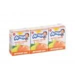 Сок АГУША Яблоко-персик с мякотью в упаковке, 3х200мл