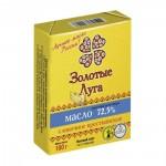 Масло сливочное ЗОЛОТЫЕ ЛУГА Крестьянское 72,5%, 180г