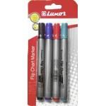 Набор маркеров для флипчарта LUXOR  4цв