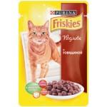 Корм для кошек FRISKIES в подливе с говядиной, 100 г