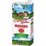 Молоко ДОМИК В ДЕРЕВНЕ стерилизованное 3,5%, 950г