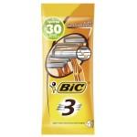 Станки одноразовые BIC 3 для чувствительной кожи, 4 шт