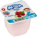 Йогурт АГУША Малина с земляникой 2,6%, 90г