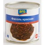 Фасоль ARO красная в собственном соку, 420г