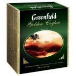 Чай GREENFIELD Golden Ceylon черный, 100 пак.