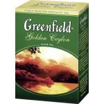Чай GREENFIELD golden ceylon листовой, 200г