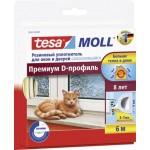 Уплотнитель TESA Moll D-Профиль белый, 6м