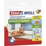 Уплотнитель резиновый TESA Moll для окон и дверей, 6м