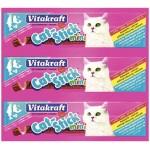 Колбаска для кошек VITAKRAFT Лосось и Форель, 3х6г