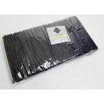 Соломка черная 24 см RIOBA, 1000 шт
