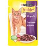 Корм для кошек FRISKIES в желе с говядиной и ягненком, 100г