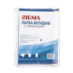 Папка-вкладыш с перфорацией SIGMA, А4, 35 мкм, 100 шт.