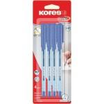 Ручка шариковая K1 KORES синяя 1 0,7мм, 4шт