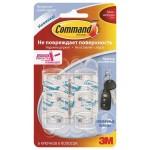 Крючок COMMAND для ключей прозрачный