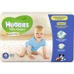 Подгузники для мальчиков HUGGIES Ultra Comfort 4 (8-14кг), 80шт