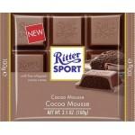 Шоколад RITTER SPORT с альпийским молоком и шоколадным муссом, 100г
