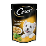 Корм для собак CESAR из курицы с зелеными овощами, 100г
