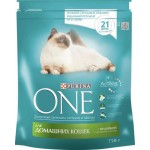 Корм для домашних кошек PURINA ONE с индейкой и цельными злаками, 750г