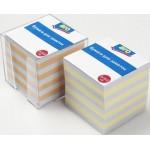 Бумага ARO для записи цветная в пластике,  9*9*9см