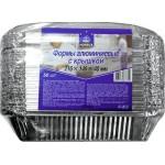 Формы одноразовые HORECA SELECT алюминиевые с крышкой 216х146х40 см в упаковке, 50 шт