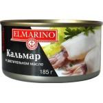 Кальмар в масле ELMARINO, 185г