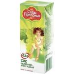 Сок детский САДЫ ПРИДОНЬЯ яблочно-виноградный, 200мл
