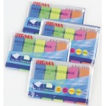 Закладки SIGMA 45х12 5цв*25л, 4шт