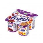 Йогурт CAMPINA Fruttis Супер экстра персик-маракуйя, вишня 8%, 115 г