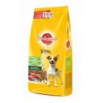 Сухой корм PEDIGREE для взрослых собак маленьких пород с говядиной, 2200 гр