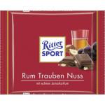 Шоколад молочный RITTER SPORT ямайский ром/орех/изюм, 100г